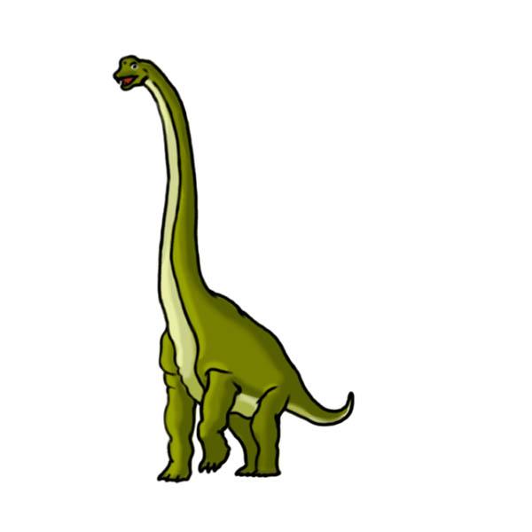 Раскрашиваем брахиозавра