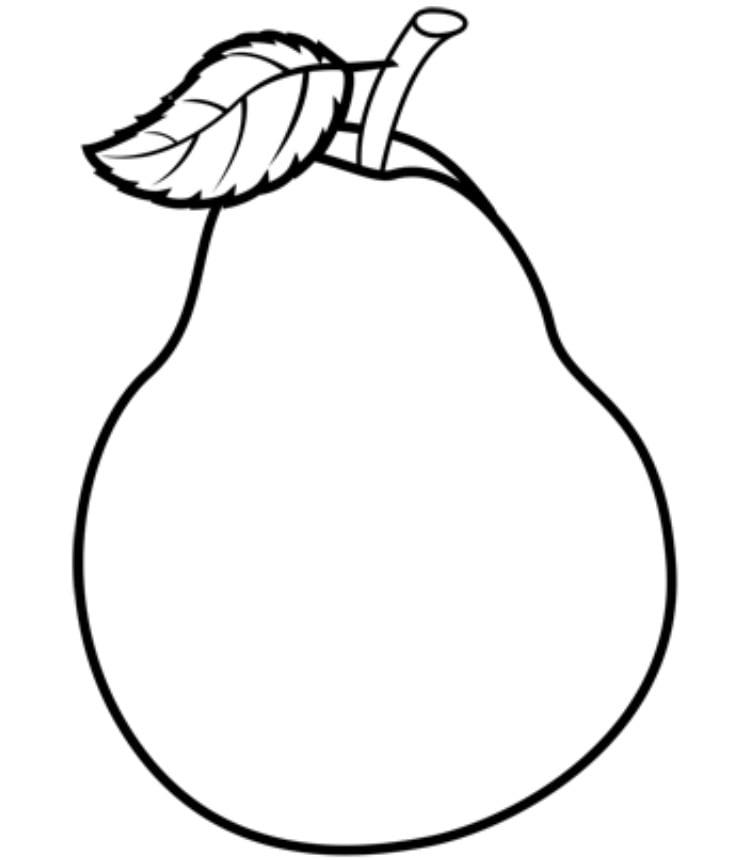 Яблоко и груша картинки карандашом