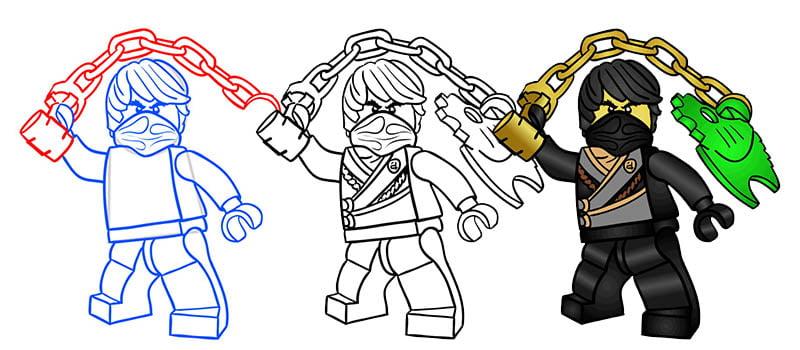 лего ниндзя го картинки как нарисовать тексты заклинаний