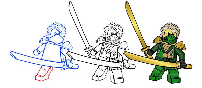 Как нарисовать всех ниндзя из лего