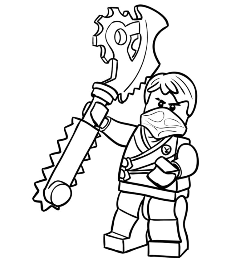 lego ninjago coloring pages lloyd