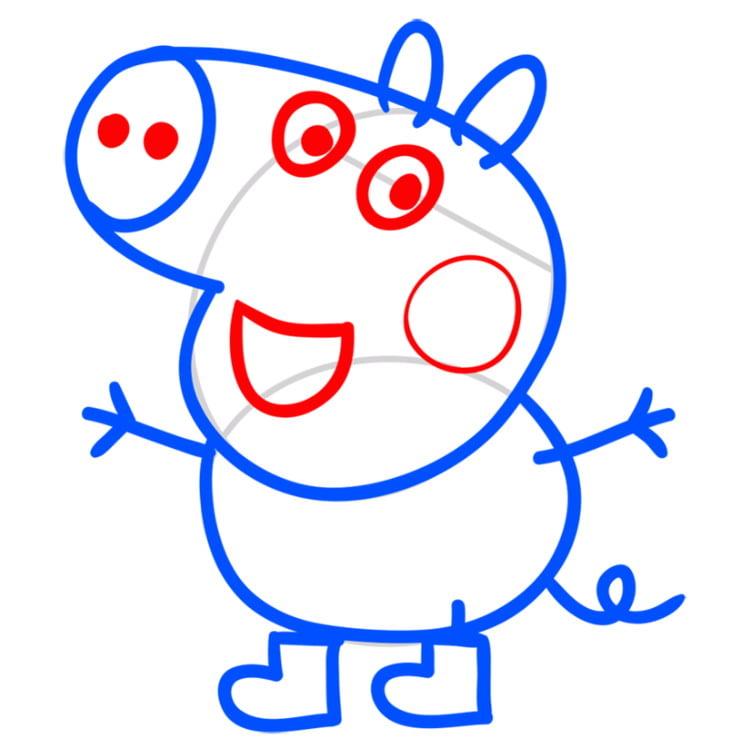 Открытка рождением, картинки свинки пеппы для срисовки