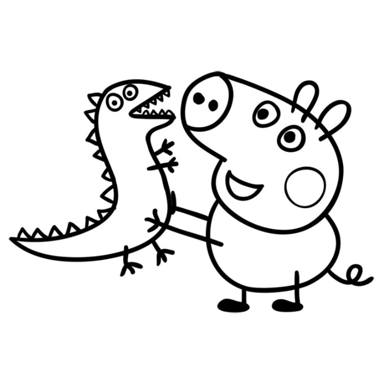 это картинка карандашом свинки пеппы развилке
