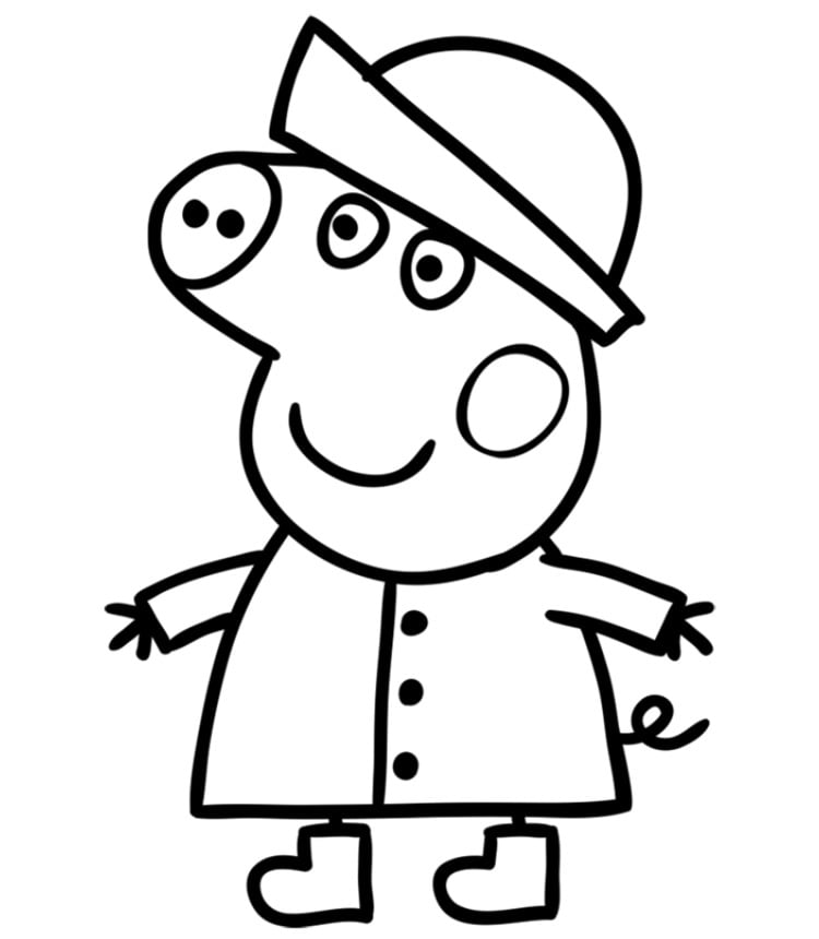 Картинки свинки пеппы для срисовки, гофрированной бумаги