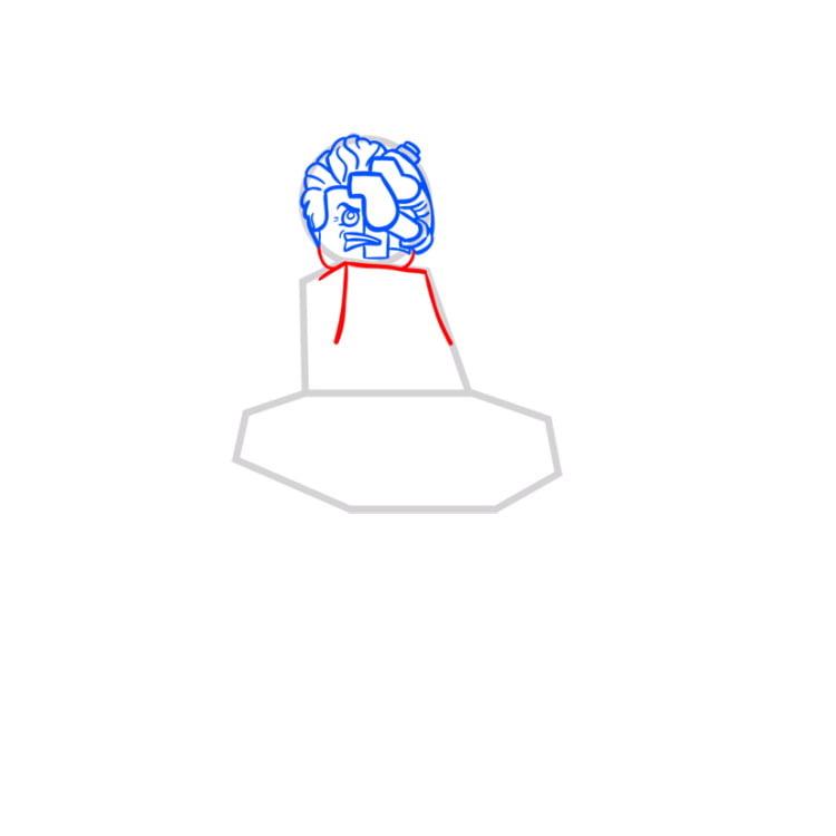 Как рисовать нию из ниндзяго