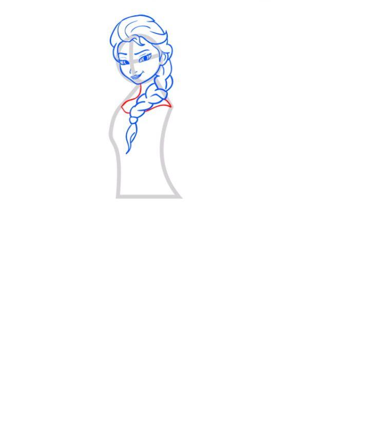 Рисуем Эльзу - шаг 05