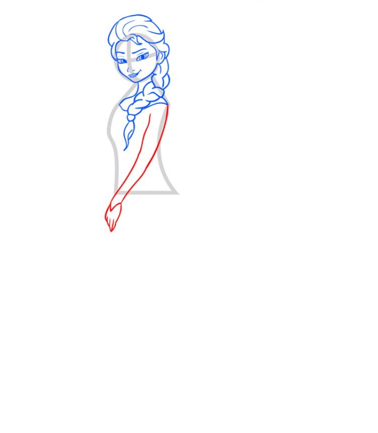 Рисуем Эльзу - шаг 06