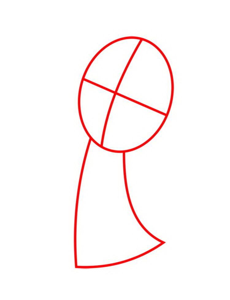 Как нарисовать Машу поэтапно карандашом 01
