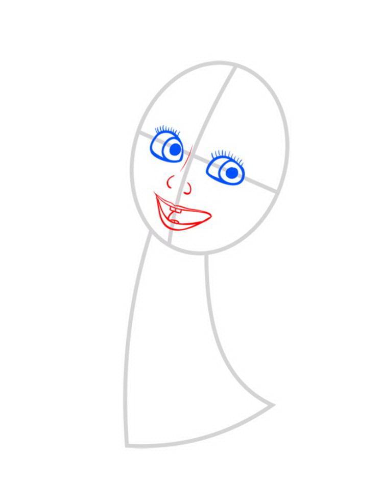 Как нарисовать Машу поэтапно карандашом 03