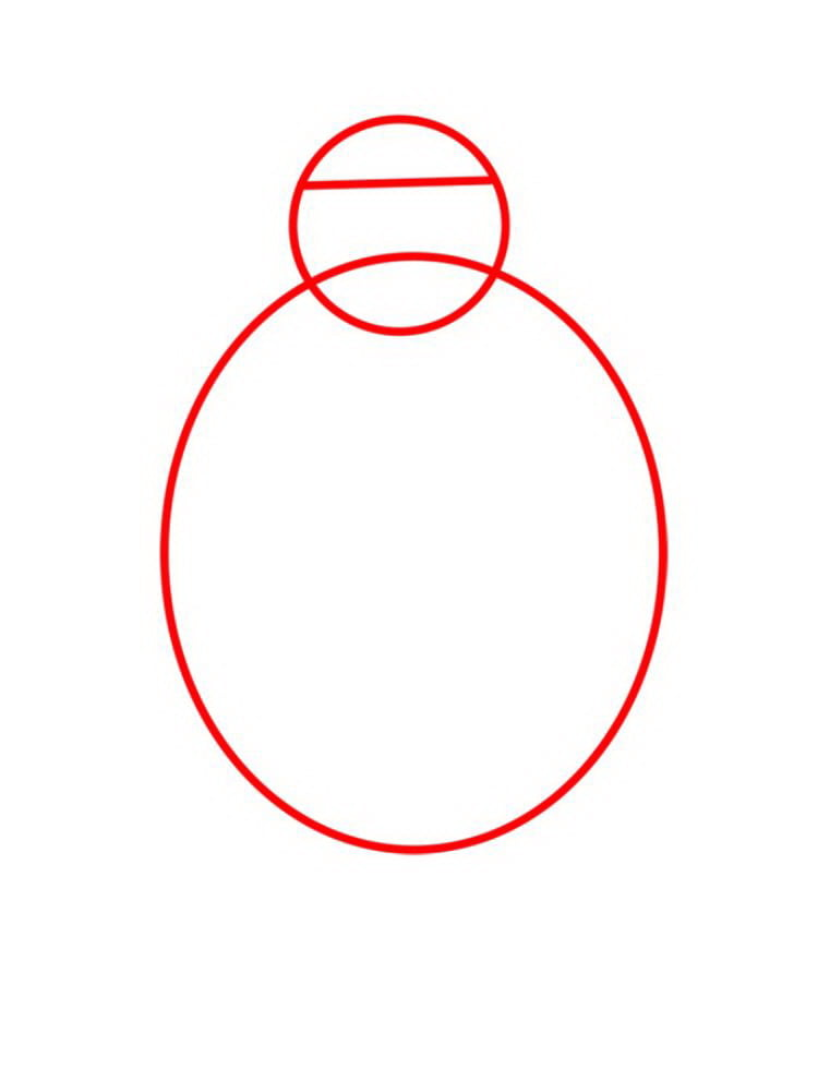 Как нарисовать Медведя Мишу - шаг 01
