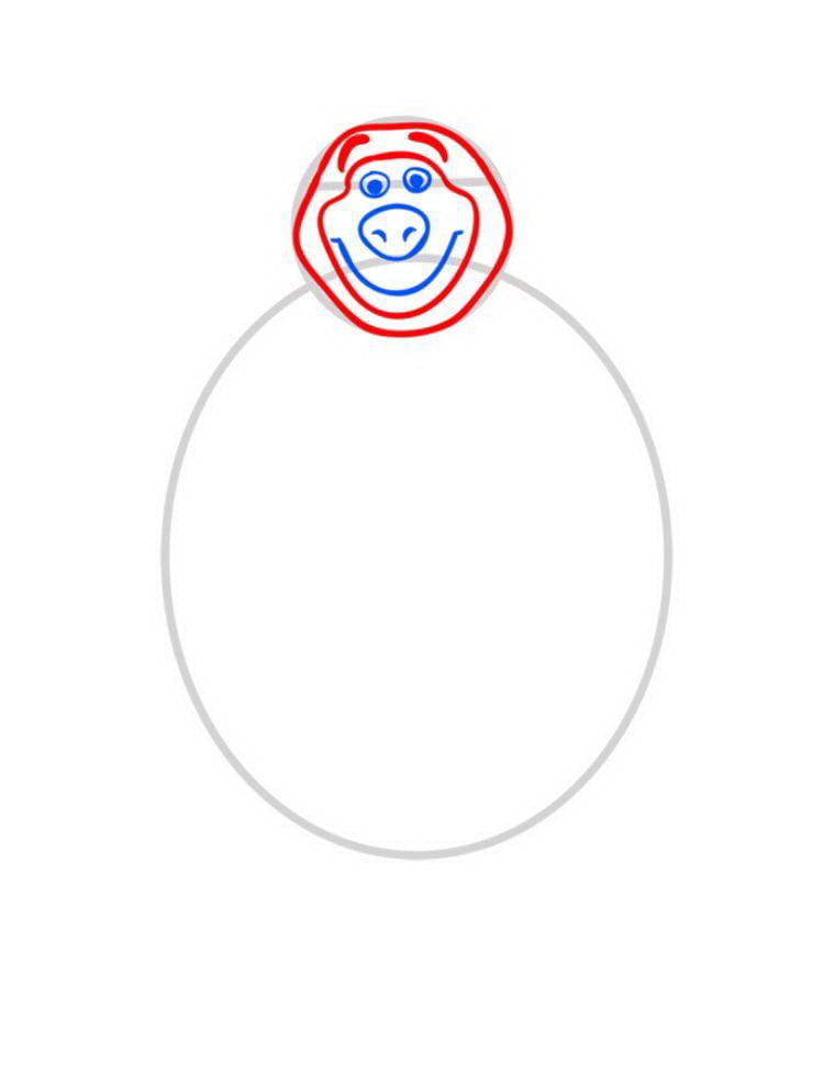 Как нарисовать Медведя Мишу - шаг 03
