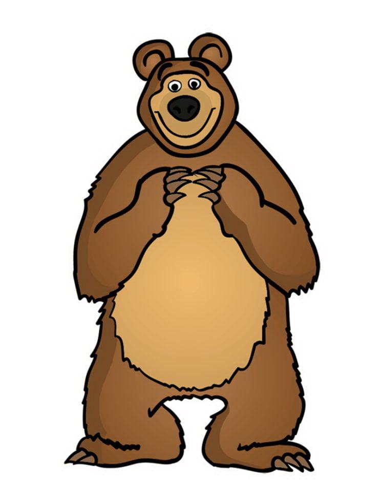 Раскрашиваем нашего доброго Медведя