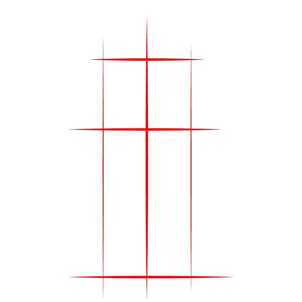 Как нарисовать Санса из Undertale - 01
