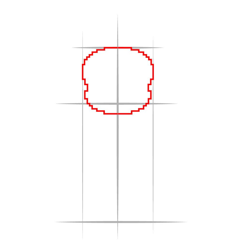 Как нарисовать Санса из Undertale - 02