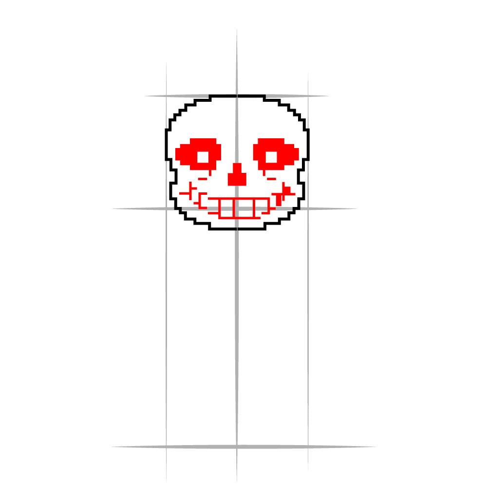 Как нарисовать Санса из Undertale - 03